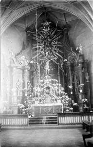 Wnętrze kościoła pw. św. Mateusza, lata 30. XX w.