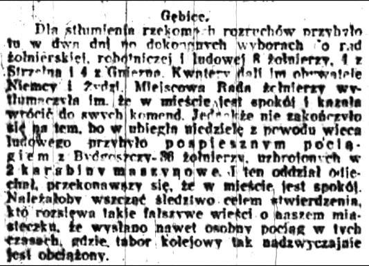 Kurier Poznański - o rozruchach w Gębicach